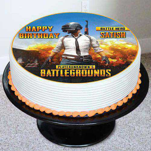 Stylish PUBG Battleground Photo Cake