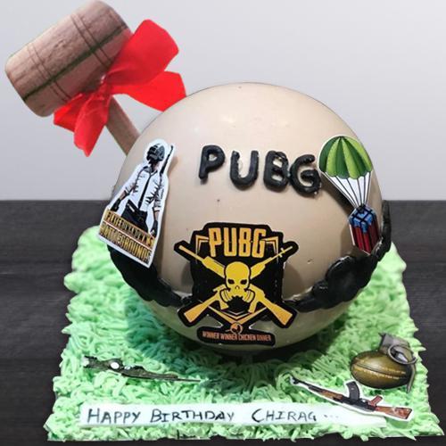 Wonderful PUBG Design Hammer Cake