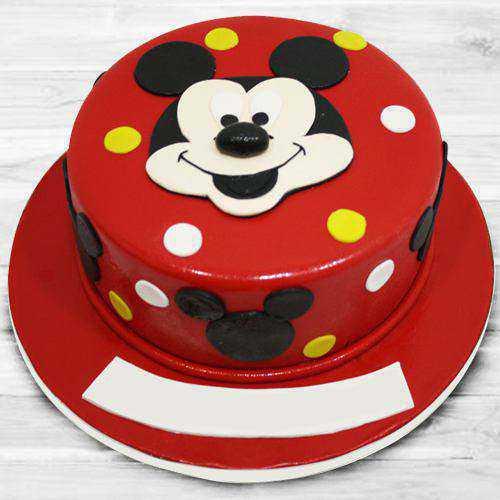 Blissful Mickey Mouse Fondant Cake for Children