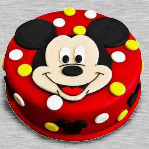 Toothsome Kids Special Mickey Mouse Fondant Cake
