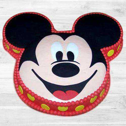 Treasured Mickey Mouse Shaped Cake for Children