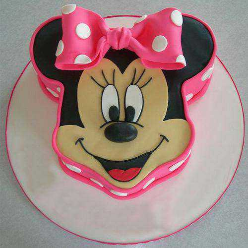 Delightful Minnie Mouse Shaped Cake for Kids