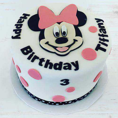Gratifying Minnie Mouse Cake for Kids Party