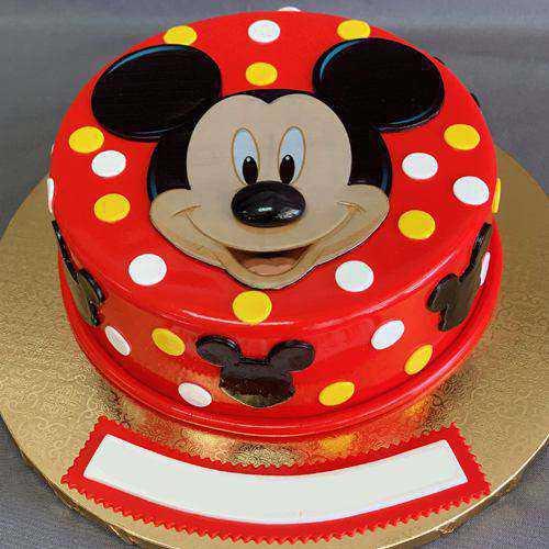 Yummy Birthday Special Mickey Designed Cake