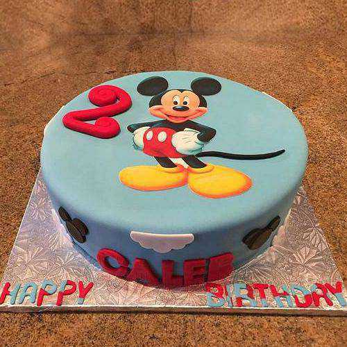 Tempting Mickey Mouse Blue Cake for Children