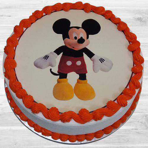 Appealing Mickey Mouse Special Cake for Kids