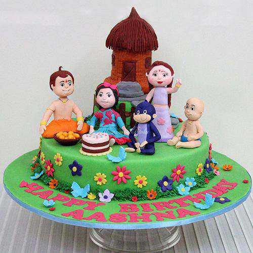 Exceptional Chota Bheem Special Theme Cake