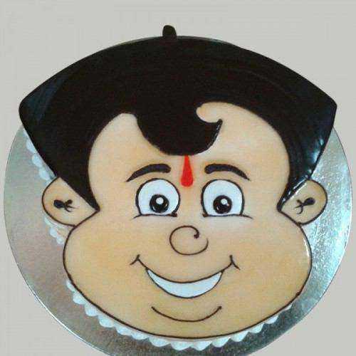 Elegant Chota Bheem Shape Cake for Kids Party