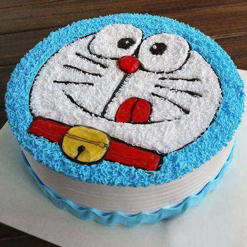 Appetizing Doremon Cake for Kiddos