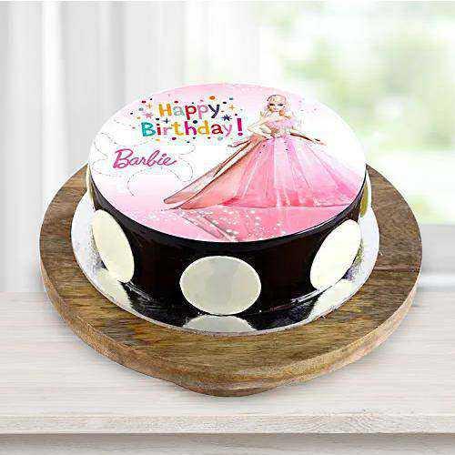 Designer Birthday Special Barbie Photo Cake