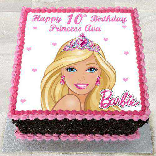 Sweet Egg-less Barbie Photo Cake for Youngster
