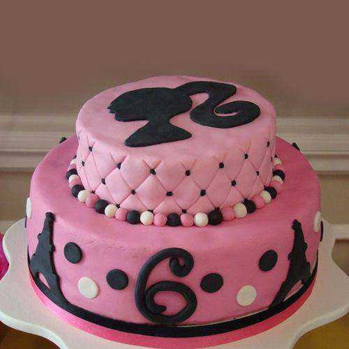 Wholesome Two Tier Barbie Cake for Youngster