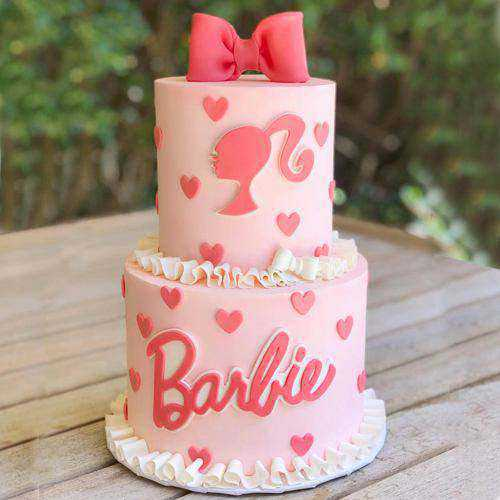 Layered 2 Tier Barbie Birthday Special Cake
