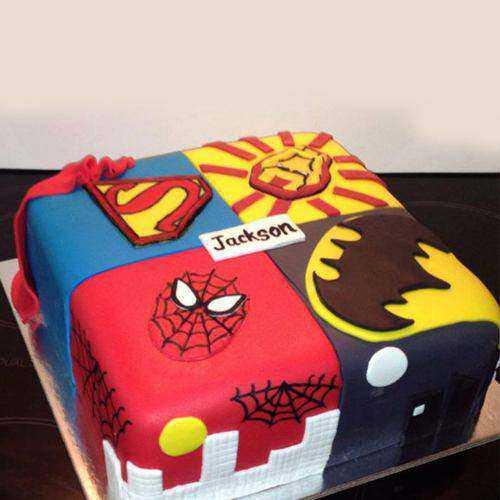 Remarkable Super Hero Cake for Little Prince