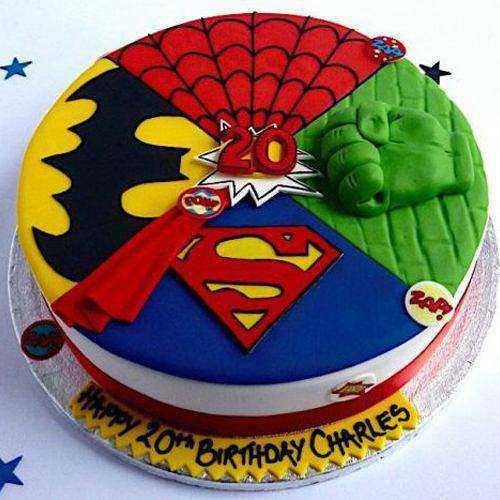 Delightful Kids Party Special Super Hero Cake