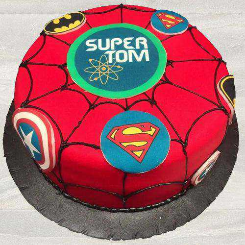 Magical Super Hero Fondant Cake for Kids Party