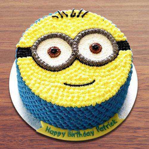 Indulgent Birthday Special Egg-less Minion Cake