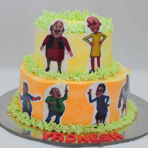 Delicate Kids Party Special 2 Tier Motu Patlu Cake