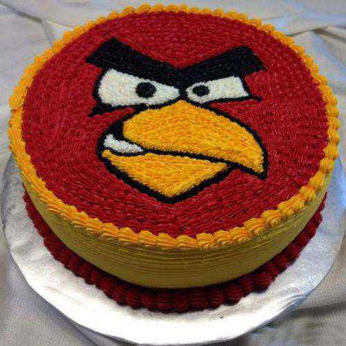 Tempting Angry Bird Cake for Youngster