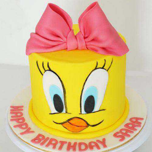Caramelized Tweety Cake for Little One