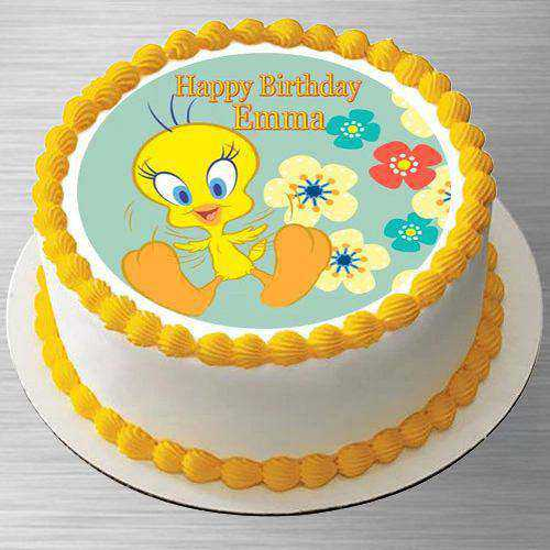 Smooth Kids Party Special Tweety Photo Cake