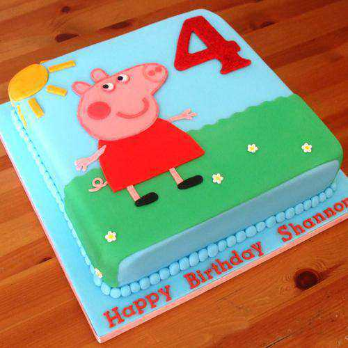 Toothsome Peppa Pig Egg-less Cake for Kids