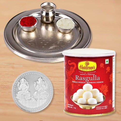 Haldiram Rosgulla N Thali , Free Coin