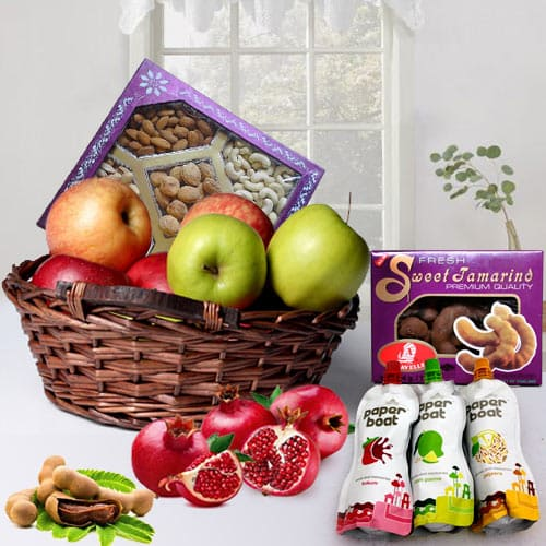 Special Gift Basket of Fruits N More