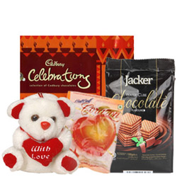Awesome Combo of Assorted Chocolates with Teddy