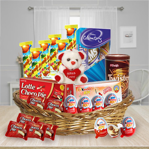Wonderful Kids Chocolates Basket