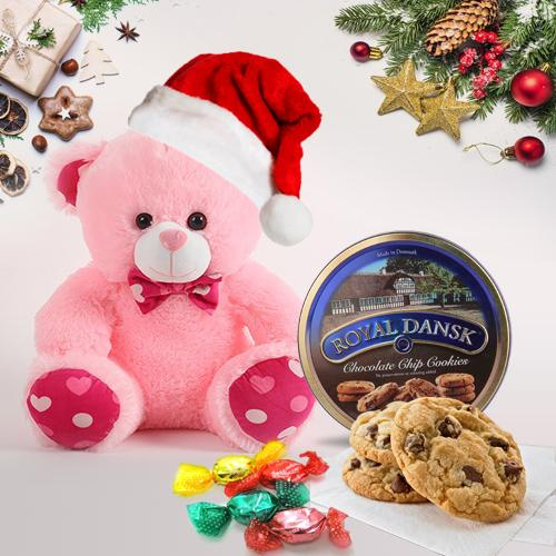 Zesty Teddy Bear with Chocolates