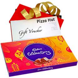 Delicious Cadbury Celebration with Pizza Hut Gift Voucher