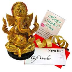 Precious Ganesh Idol, Mothers Day Card N Pizza Hut Gift Voucher