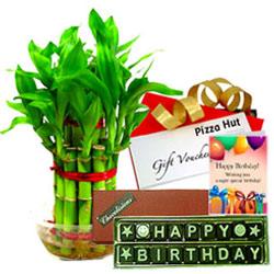 Sparkling Birthday Hamper with Pizza Hut Gift Voucher