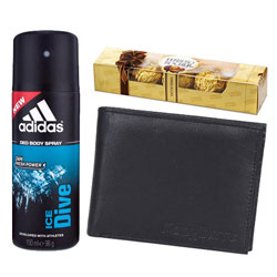 Gift Addidas Deo, Longhorns Wallet for Mens  N  Ferrero Rocher