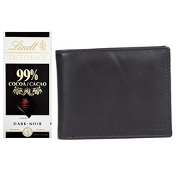 Exquisite Longhorns Wallet with Lindt Excellence Chocolate Bar