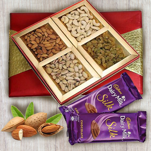 Lip-Smacking Dry Fruits Assortments with Cadbury Dairy Milk Silk
