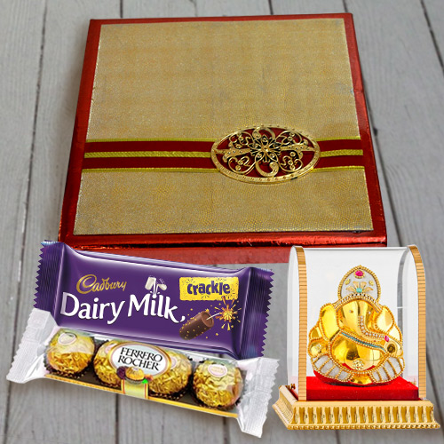 Special Dry Fruits Assortments, Chocolates N Vighnesh Ganesh Idol