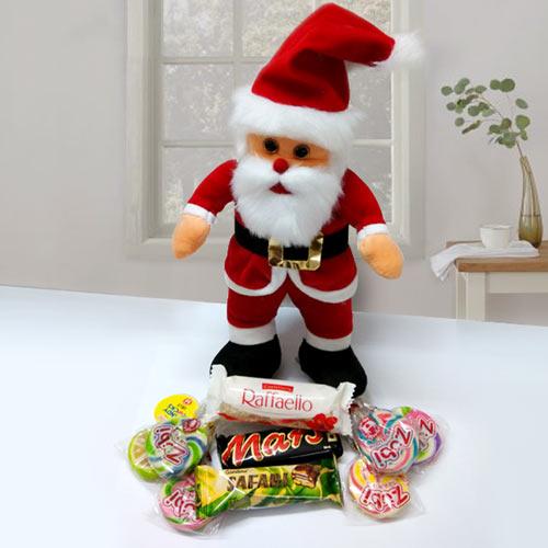 Santa Claus with Chocolates Hamper