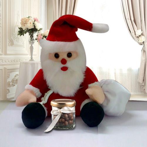 Santa Soft Toy n Cadbury Nutties