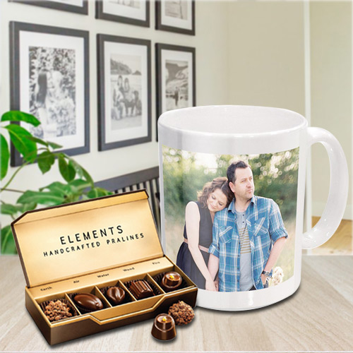 Best Personalized Coffee Mug with Premium Chocolates from ITC