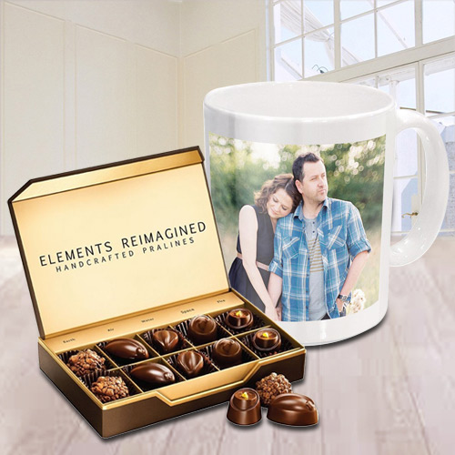 Lovely Personalized Coffee Mug with ITC Premium Chocolates