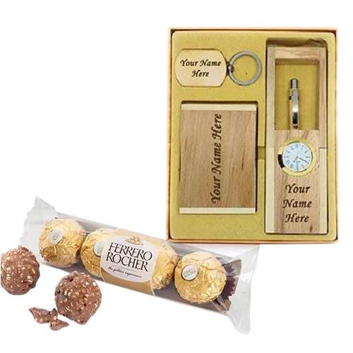 Personalized Desktop Accessory with Ferrero Rocher