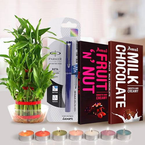 Remarkable Environment Friendly Dipawali Gift with Amul Chocolates
