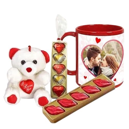Amazing Personalized Photo Mug Love Hamper for Valentines Day
