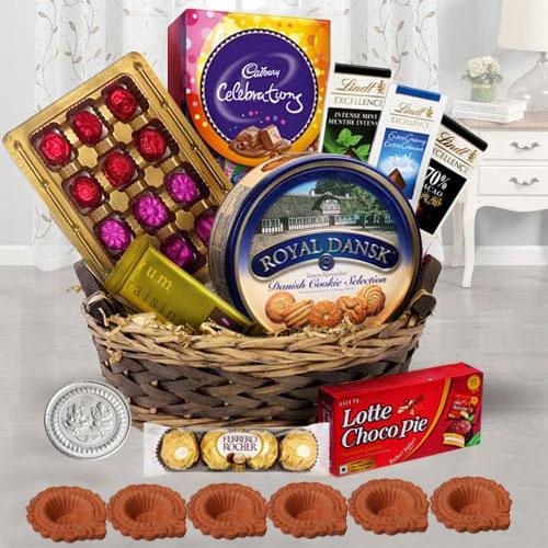 Delightful Chocolates Gift Basket for Diwali
