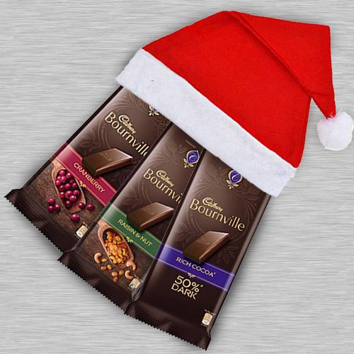 Marvelous Cadbury Bournville Chocolate in Santa Clause Cap