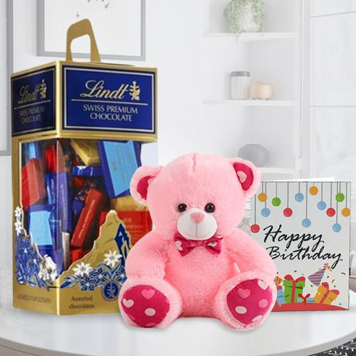 Exclusive Lindt Swiss Chocos N 6in Teddy
