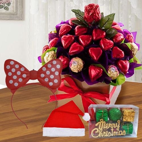 Wonderful Heart Shaped Handmade N Ferrero Rocher Chocos<br>