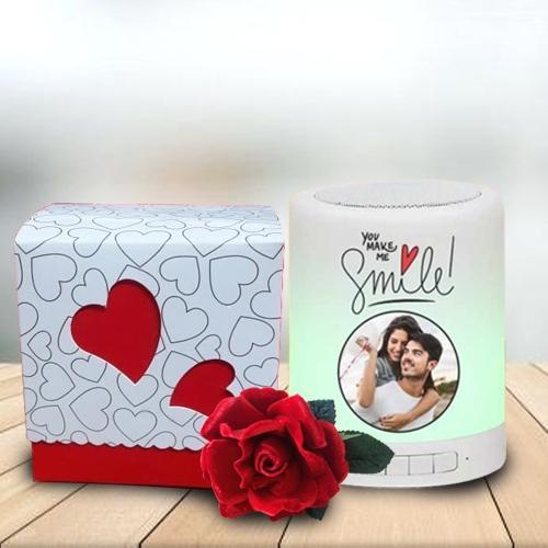 Exquisite Personalized Photo  Bluetooth Speaker N Handmade Chocolate Gift Combo